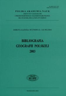 Bibliografia Geografii Polskiej 2003