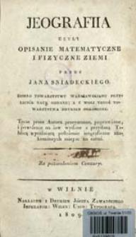 Jeografiia czyli Opisanie matematyczne i fizyczne Ziemi