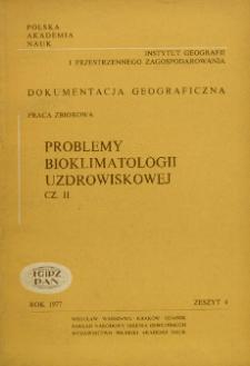 Problemy bioklimatologii uzdrowiskowej : praca zbiorowa. Cz. 2 = Problems of spa bioclimatology