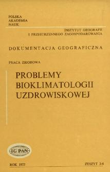 Problemy bioklimatologii uzdrowiskowej : praca zbiorowa = Problems of bioclimatology of health resorts
