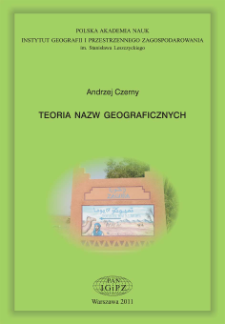 Teoria nazw geograficznych = Theory of geographical names
