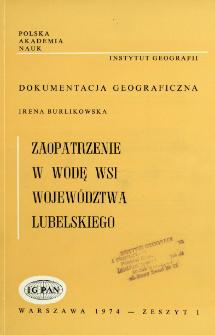 Zaopatrzenie w wodę wsi województwa lubelskiego = Water supply for villages of Lublin voivodeship