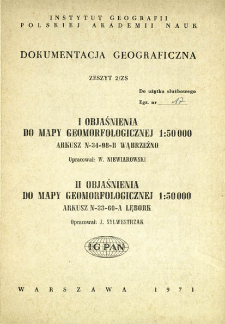 Objaśnienia do mapy geomorfologicznej 1:50 000 : arkusz N-34-98-B Wąbrzeźno