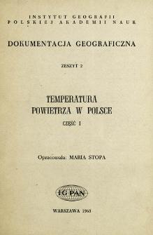 Temperatura powietrza w Polsce. Cz. 1