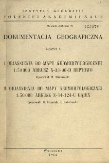 Objaśnienia do mapy geomorfologicznej 1:50 000 : arkusz N-33-90-D Reptowo