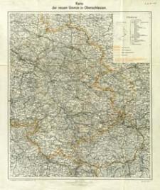 Karte der neuen Grenze in Oberschlesien : Maßstab 1:300 000