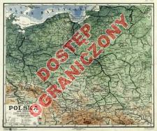 Polska : mapa fizyczna