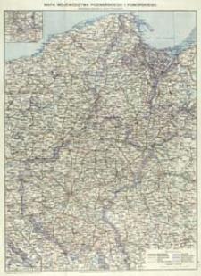 Mapa województwa poznańskiego i pomorskiego