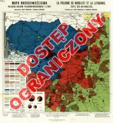 Mapa narodowościowa polskich kresów północno-wschodnich i Litwy = La Pologne de Nord-Est et la Lithuanie : Carte des Nationalités