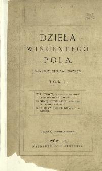 Poezye Wincentego Pola. T. 1.