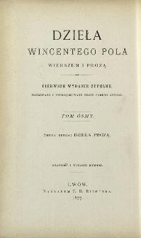 Dzieła prozą Wincentego Pola. T. 4.