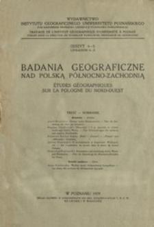 Badania Geograficzne nad Polską Północno-Zachodnią Z. 4-5 (1929)