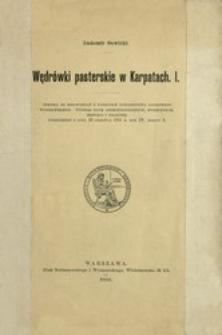 Wędrówki pasterskie w Karpatach. 1