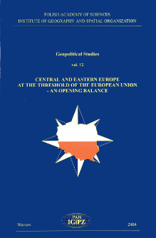 Central and Eastern Europe at the threshold of the European Union - an opening balance