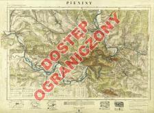 Pieniny mapa fotogrametryczna