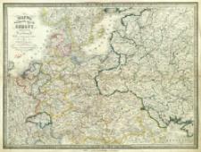 Mappa środkowych krajów Europy : z oznaczeniem dróg żelaznych podług najlepszych źródeł.