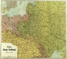 Mapa Europy Środkowej : podziałka 1:2 500 000