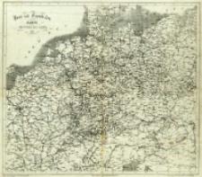 Post und Eisenbahn Karte von Mittel Europa