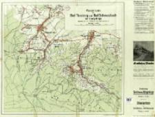 Vierfarbige Karte vom Isergebirge : Masstab 1:75 000 : verbunden mit Wanderkarte von Bad Flinsberg und Bad Schwarzbach : Masstab 1:20 000