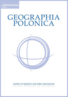 Geographia Polonica Vol. 86 No. 2 (2013), Contents
