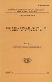 Sesja naukowa IGiPZ PAN 1991 = Annual conference 1991