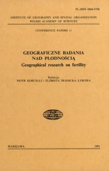 Geograficzne badania nad płodnością = Geographical research on fertility