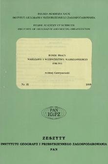 Rynek pracy Warszawy i województwa warszawskiego 1990-1993