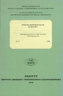 Funkcje metropolitarne Warszawy = Metropolitan functions of Warsaw