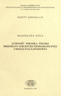 Ludność wiejska Polski : przemiany struktury demograficznej i społeczno-zawodowej