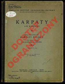 Karpaty. 4, Karpaty Polskie : mapa warstwicowa : 1:300 000 = Les Karpates. 4, Les Karpates Polonaises : carte hypsométrique