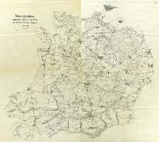 Mapa poglądowa posiadłości Księcia von Pless na Polskim Górnym Śląsku