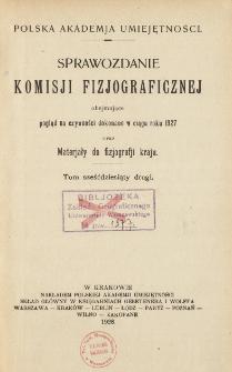 Sprawozdanie Komisji Fizjograficznej T. 62 (1927)