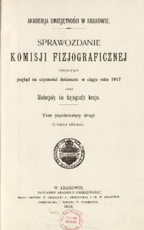 Sprawozdanie Komisji Fizjograficznej T. 52 (1917)