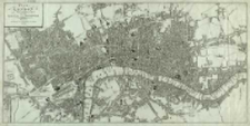 Plan von London und Westminister mit der Borough von Southwark