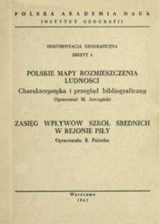 Polskie mapy rozmieszczenia ludności : charakterystyka i przegląd bibliograficzny