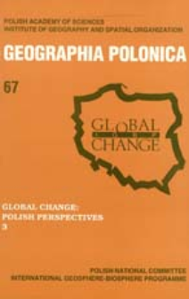 Geographia Polonica 67 (1996), Global Change : Polish Perspectives 3