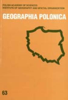 Geographia Polonica 63 (1994)