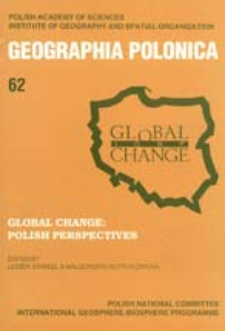 Geographia Polonica 62 (1994 ), Global Change : Polish Perspectives