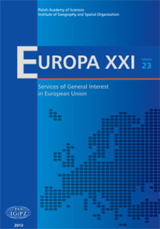 The provision of Services of General Interest in Europe: regional indices and types explained by socio-economic and territorial conditions