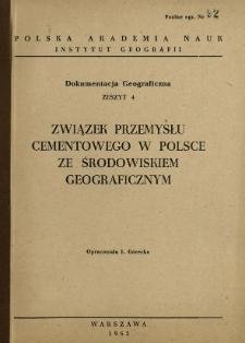 Związek przemysłu cementowego w Polsce ze środowiskiem geograficznym