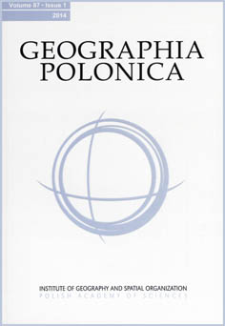 Geographia Polonica Vol. 87 No. 1 (2014), Contents