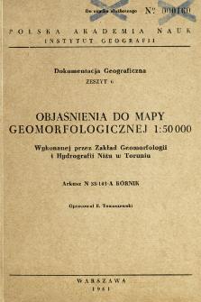 Objaśnienia do mapy geomorfologicznej 1:50 000 wykonanej przez Zakład Geomorfologii i Hydrografii Niżu w Toruniu : arkusz N 33-143-A Kórnik