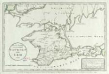 Post Karte von der Halbinsel Taurien oder Krim : pour Servir de renseignemens à la Carte des Limites des trois Empires ou Théatre de la Guerre de 1787 entre la Rußie et les Turcs