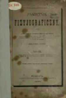 Pamiętnik Fizyjograficzny T. 9 (1889)