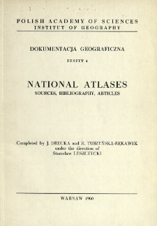 National atlases : sources, bibliography, articles