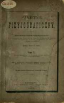 Pamiętnik Fizyjograficzny T. 10 (1890)