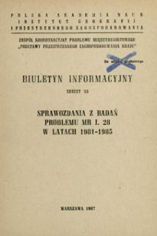 Sprawozdania z badań problemu MR I. 28 w latach 1981-1985