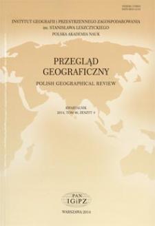 Przegląd Geograficzny T. 86 z. 4 (2014), Contents
