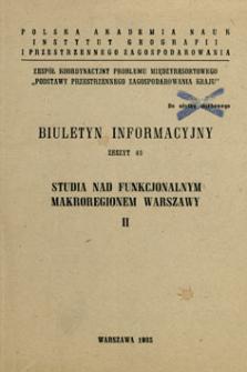 Studia nad funkcjonalnym makroregionem Warszawy. [Cz.] 2