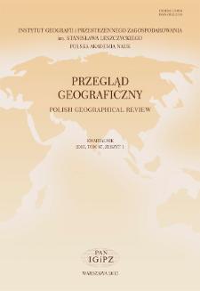 Przegląd Geograficzny T. 87 z. 1 (2015), Spis treści